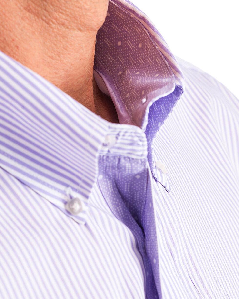 Cinch Men's Light Purple Stripe Long Sleeve Button Down Shirt, Light Purple, hi-res