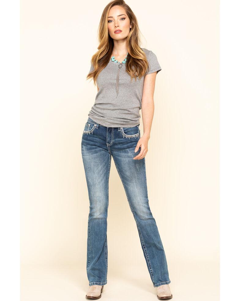 Grace in LA Women's Deco Easy Bootcut Jeans, Blue, hi-res