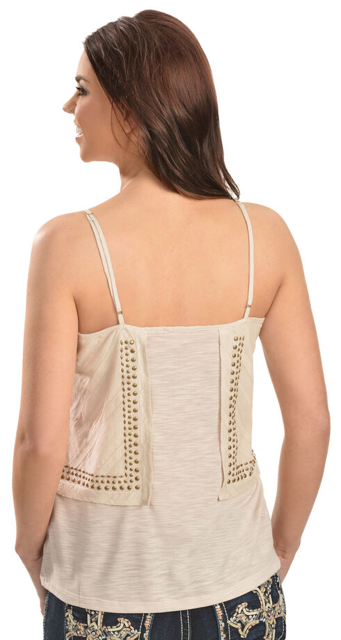 Red Ranch Women's Brass Stud Cami, Natural, hi-res