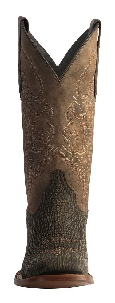 Lucchese 1883 Handmade Horseman Sanded Shark Cowboy Boots - Square Toe, Chocolate, hi-res