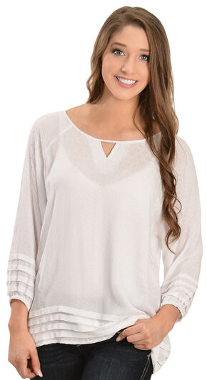 Ariat Women's Nanci Blouse, White, hi-res