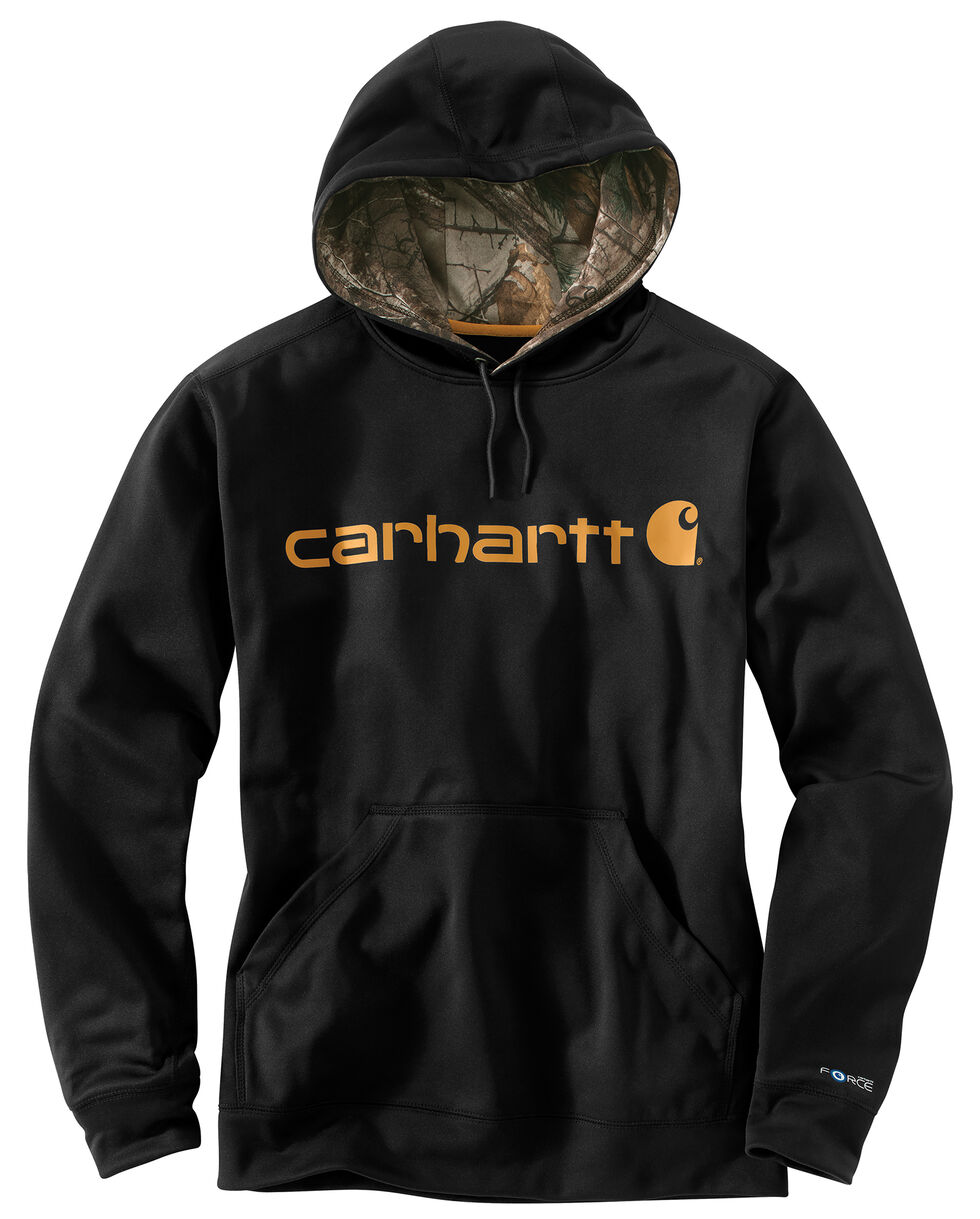 Carhartt Extremes® Force Signature Graphic Hooded Sweatshirt - Big & Tall, Black, hi-res