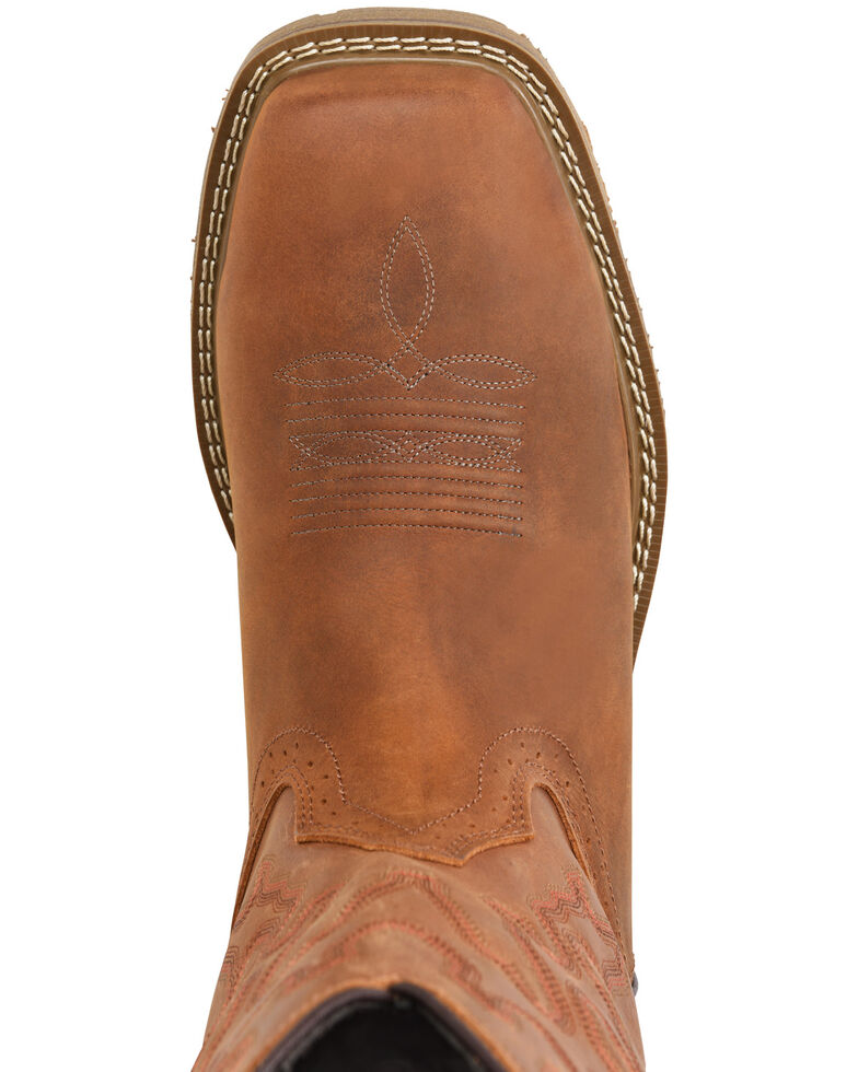 Double H Men's Workflex Waterproof Western Work Boots - Composite Toe, Brown, hi-res