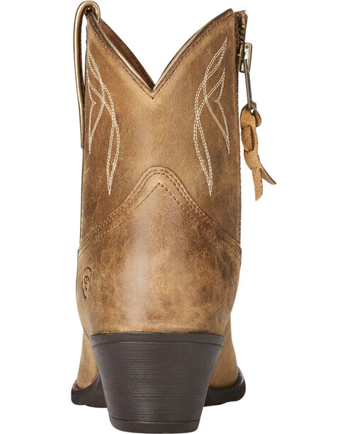 Ariat Women's Light Brown Darlin Bomber Boots - Round Toe , Lt Brown, hi-res