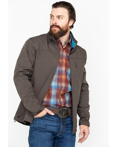 Cody James Core Men's Poly Zip-Up Steamboat Softshell Jacket , Brown, hi-res