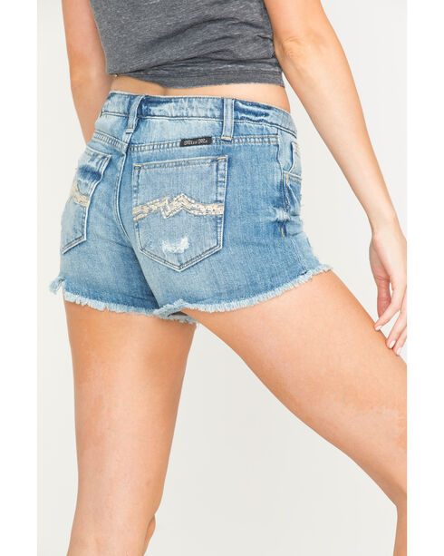 Miss Me Simple Cut Off Shorts, Indigo, hi-res