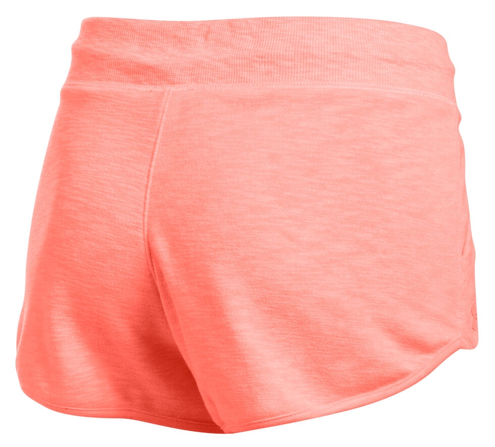 Under Armour Women's Orange Ocean Shoreline Terry Shorts, Orange, hi-res