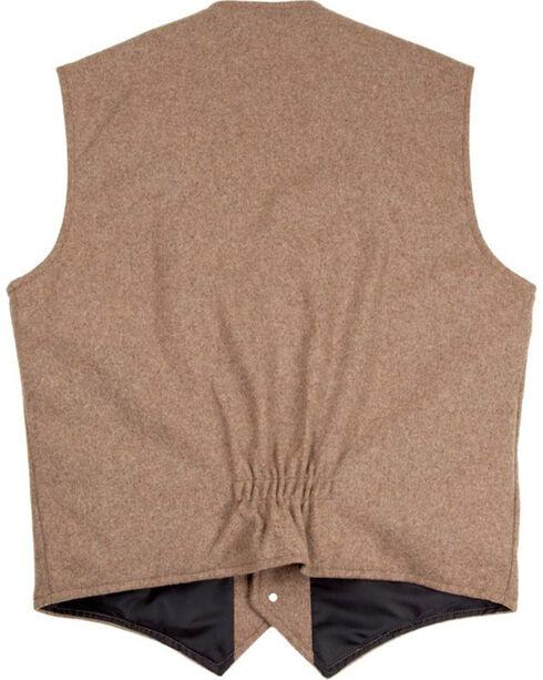 Schaefer Outfitter Men's 707 McClure Taupe Melton Wool Vest - Big , Taupe, hi-res