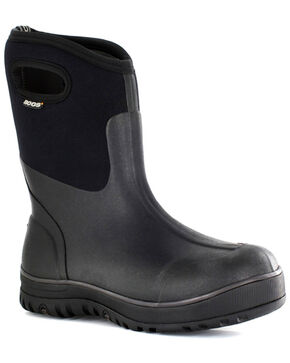 Bogs Men's Classic Insulated Waterproof Boots - Round Toe, Black, hi-res