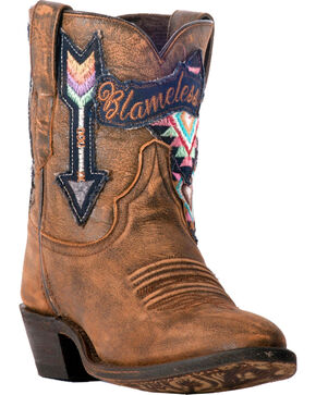 Laredo Women's Radical Blameless Arrow Short Cowgirl Boots - Medium Toe, Tan, hi-res