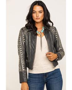 Idyllwind Women's Center Stage Leather Jacket, Grey, hi-res