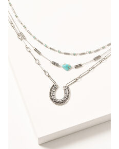 Idyllwind Women's Lucky Club Necklace, Silver, hi-res