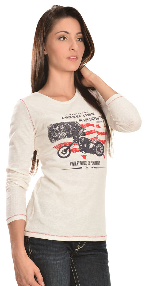 Ariat Women's Connection Long Sleeve Shirt, Off White, hi-res