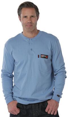 Cinch WRX Flame Resistant Blue Shirt, Blue, hi-res