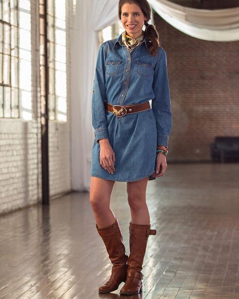 Ryan Michael Women's Lily Whipstitch Dress, Denim, hi-res