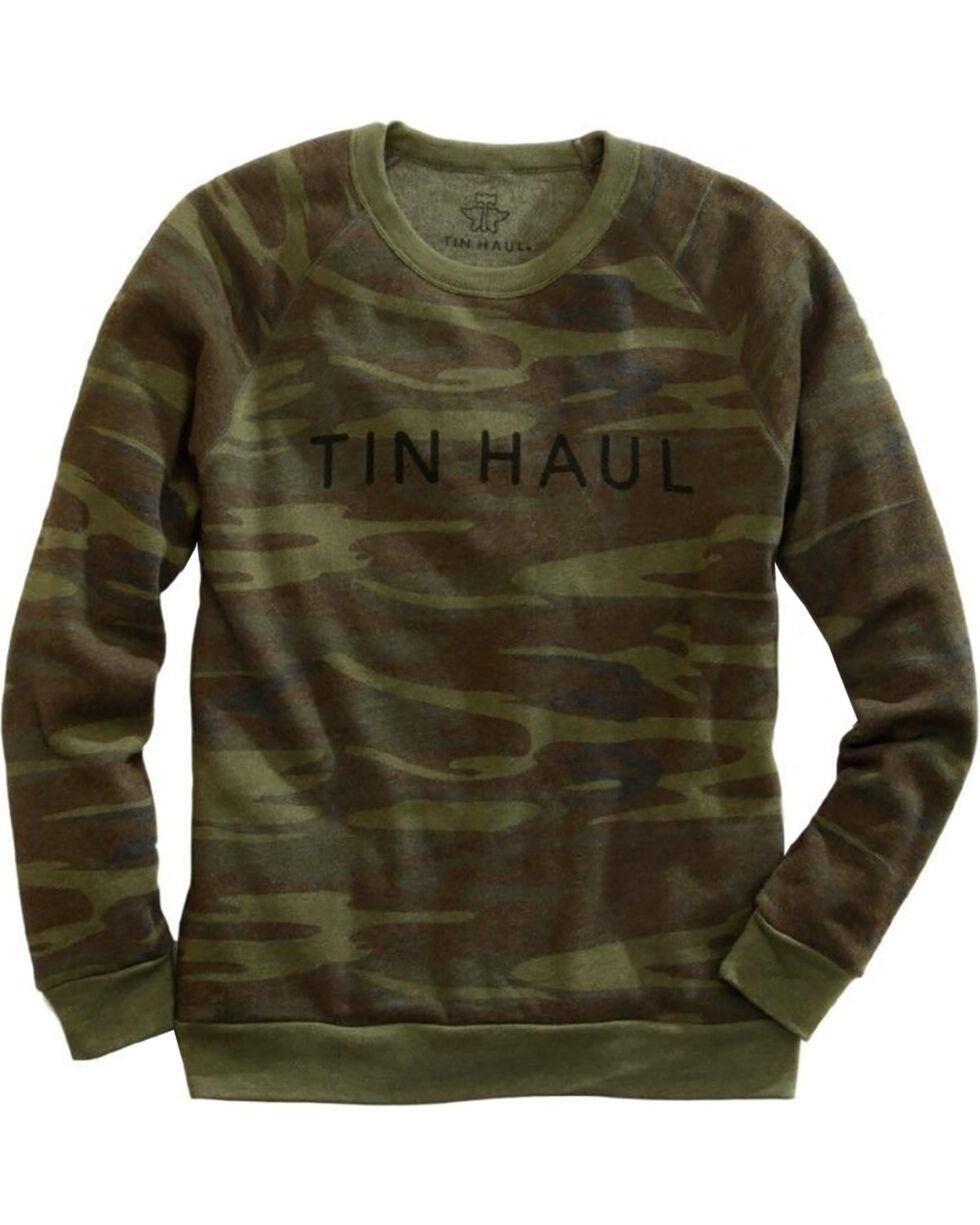 Tin Haul Men's Camo Sweatshirt, Green, hi-res