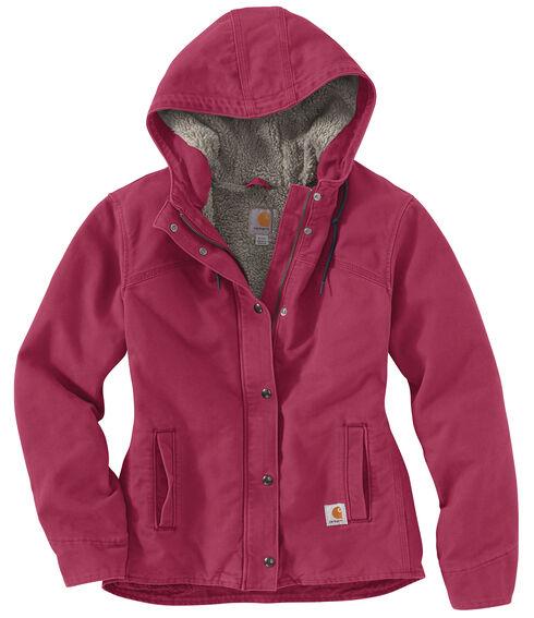 Carhartt Women's Sandstone Berkley Jacket, Ruby, hi-res