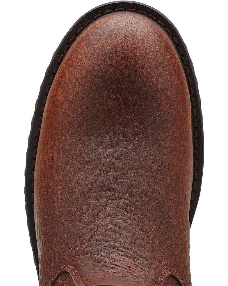 Ariat Men's RigTek Waterproof Pull-On Work Boots - Composite Toe, Brown, hi-res