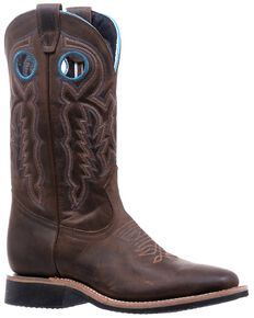 Boulet Women's Winter Western Boots- Wide Square Toe, Brown, hi-res