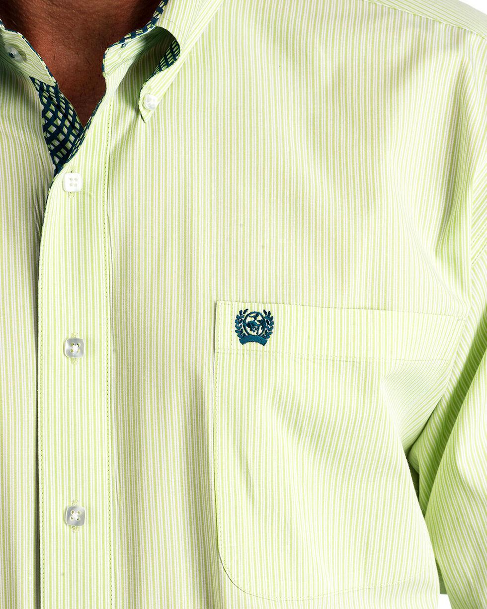 Cinch Men's Lime Striped Western Shirt , Light Green, hi-res