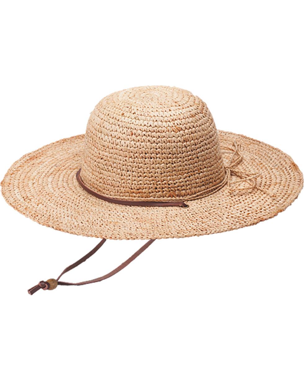 "Peter Grimm Ginko 4 1/4"" Natural Raffia Straw Sun Hat, Natural, hi-res"