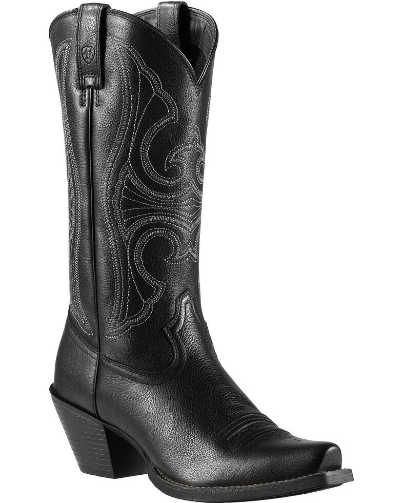 Ariat Roundup Cowgirl Boots - Snip Toe, Black, hi-res