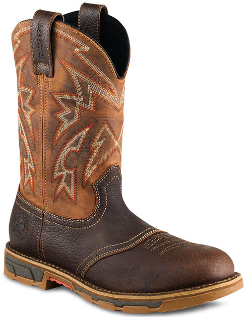 Irish Setter by Red Wing Shoes Men's Marshall Western Work Boots - Steel Toe , Brown, hi-res