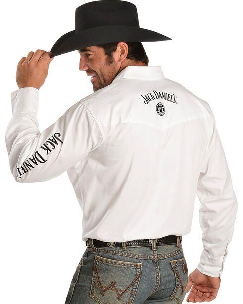 Jack Daniel's Logo Rodeo Cowboy Shirt, White, hi-res