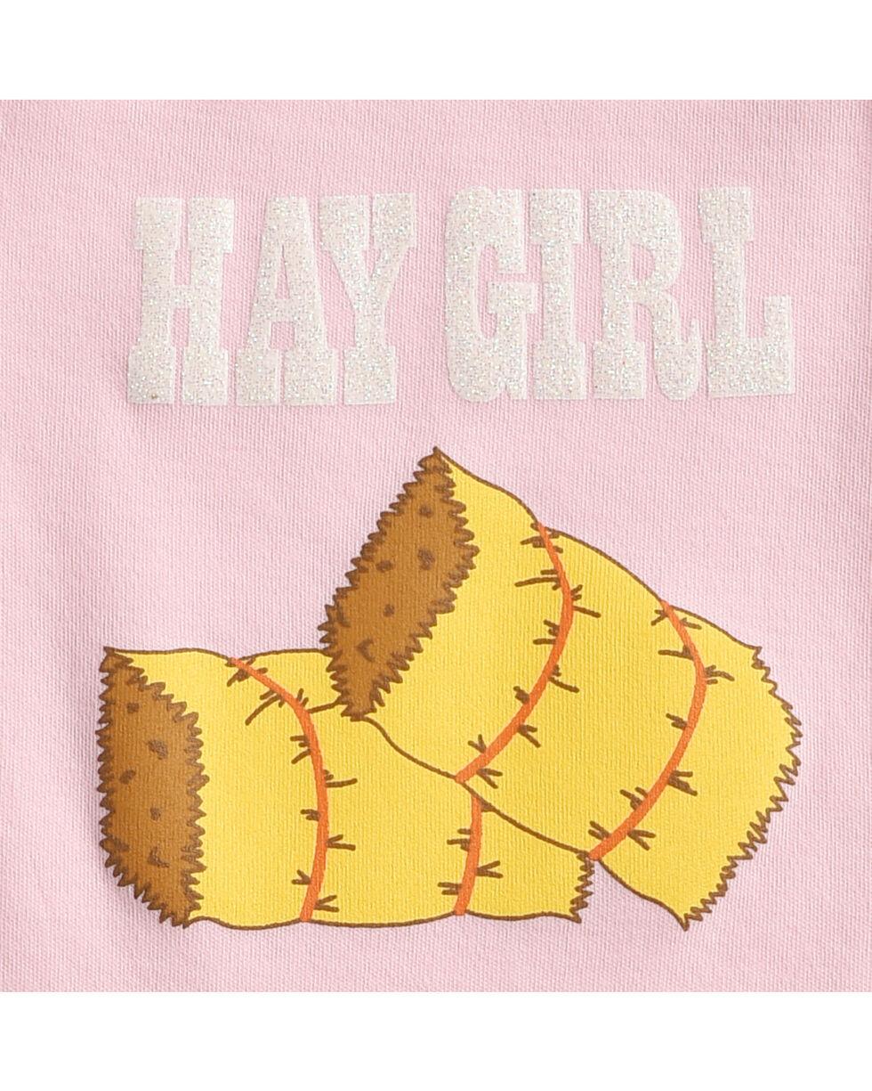 Hers 'N Spurs Infant's Hay Girl Onesie, Pink, hi-res