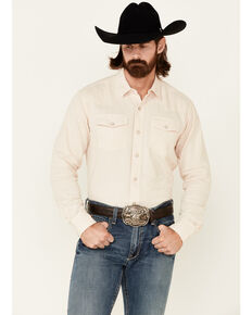 Ariat Men's Sand Jurlington Retro Solid Long Sleeve Snap Western Shirt , Tan, hi-res