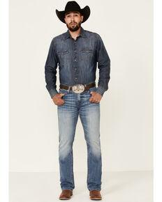 Cinch Men's Ian Medium Stonewash Performance Slim Bootcut Jeans , Indigo, hi-res