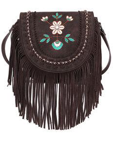 Montana West Women's Wrangler Floral Crossbody Bag, Coffee, hi-res
