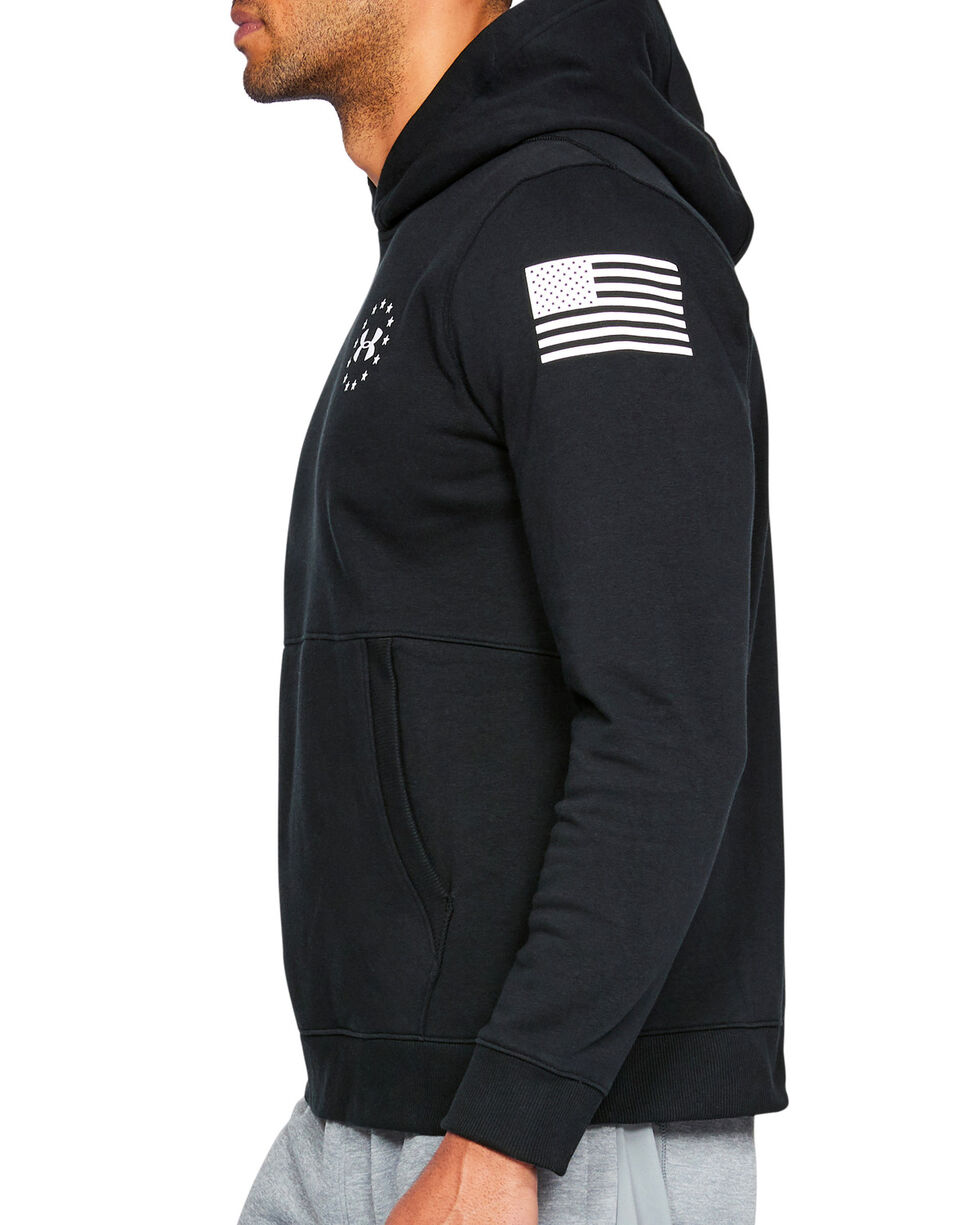Under Armour Men's UA Freedom Microthread Fleece Hoodie, Black, hi-res