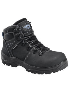 Avenger Women's Foundation Waterproof Work Boots - Composite Toe, Black, hi-res