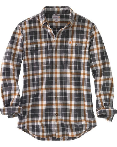 Carhartt Men's Hubbard Plaid Shirt - Tall, Slate, hi-res