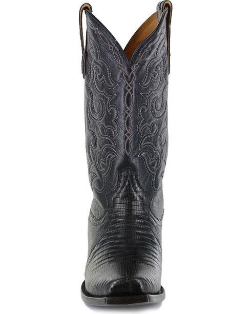 Moonshine Spirit Men's Louisiana Teju Lizard Exotic Western Boots - Square Toe, Black, hi-res