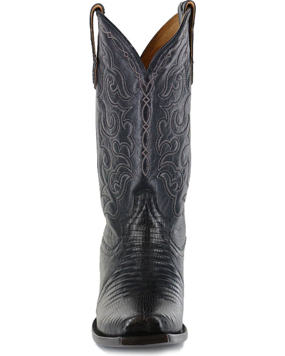 Moonshine Spirit Men's Louisiana Teju Lizard Exotic Western Boots - Square Toe, Black, hi-res