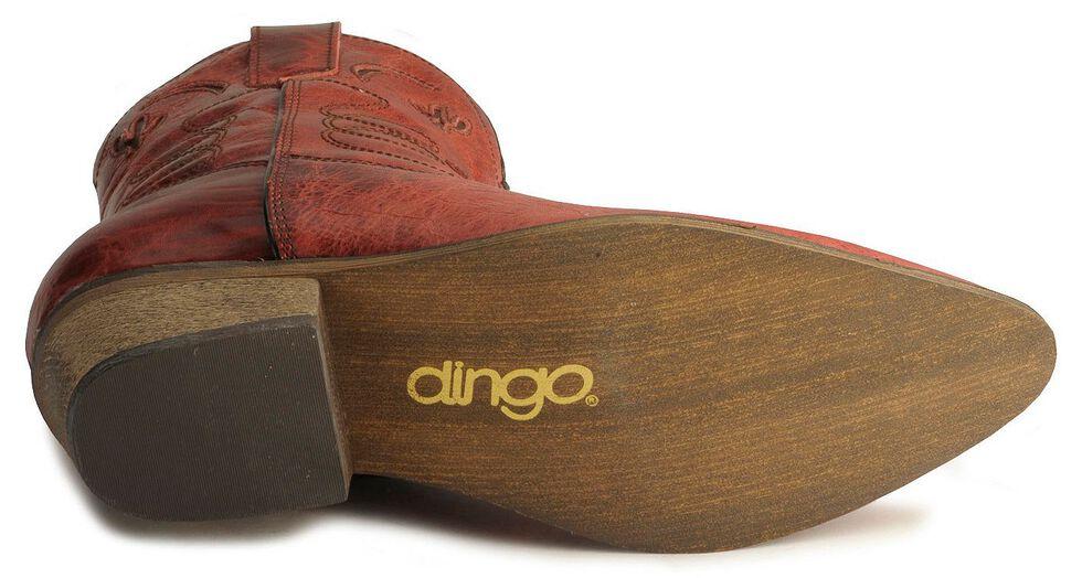 Dingo Moon & Cactus Zipper Boots, Red, hi-res