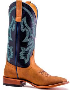 Horse Power Men's Honey Blue Adams Ale Boots - Square Toe , Honey, hi-res