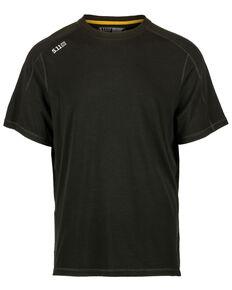 5.11 Tactical Men's Range Ready Merino Wool Short Sleeve Work T-Shirt , Black, hi-res