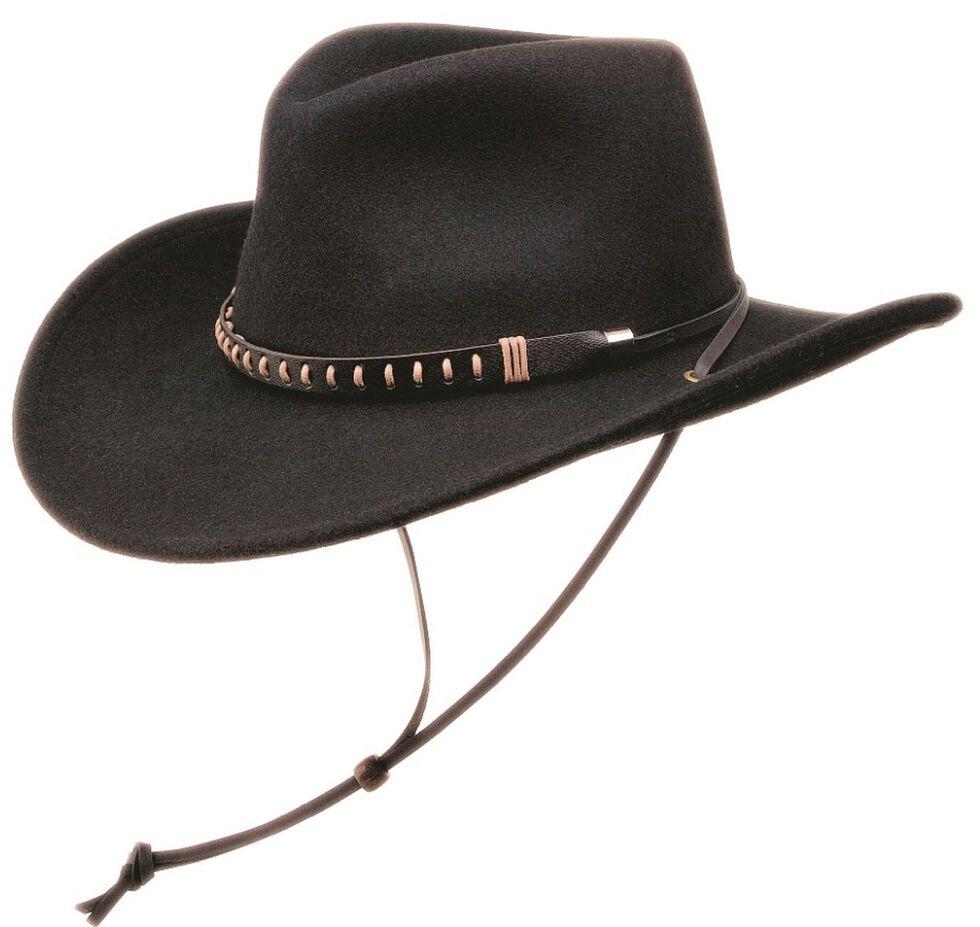 Black Creek Crushable Wool Felt Hat w  Chincord  59ab492348a5