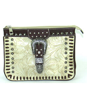 Savana Women's Ivory Faux Leather Bone Crossbody Bag , Ivory, hi-res