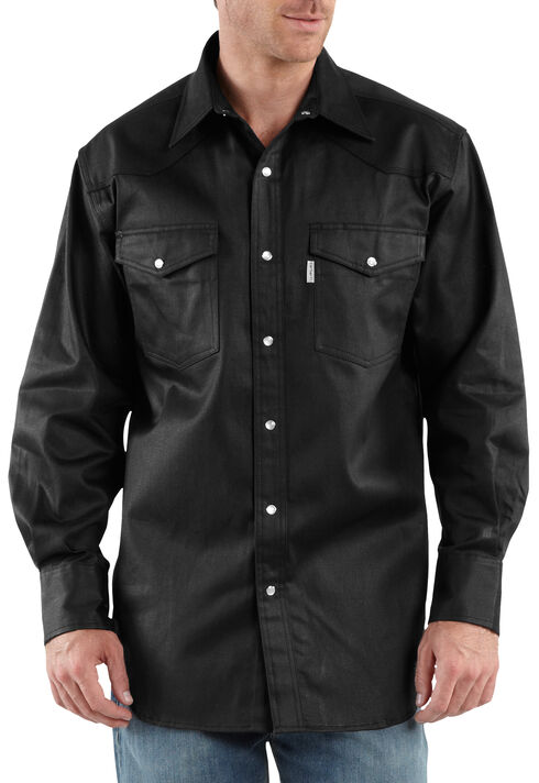 Carhartt Ironwood Twill Work Shirt - Big & Tall, Black, hi-res