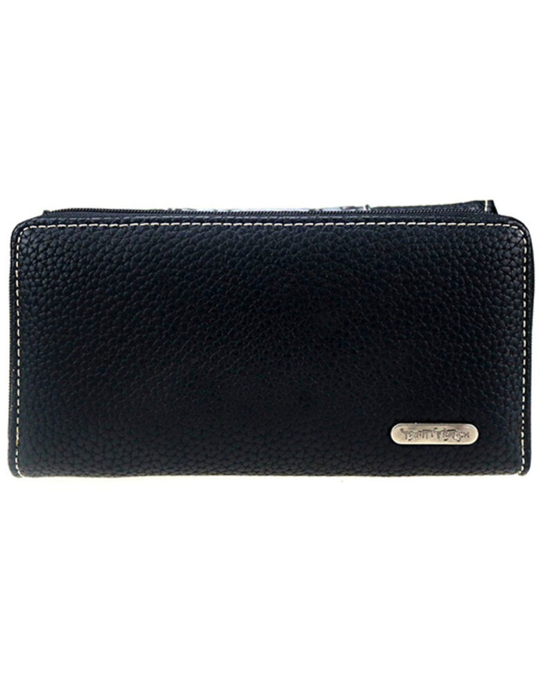 Trinity Ranch Women's Black Studs Wallet, Black, hi-res