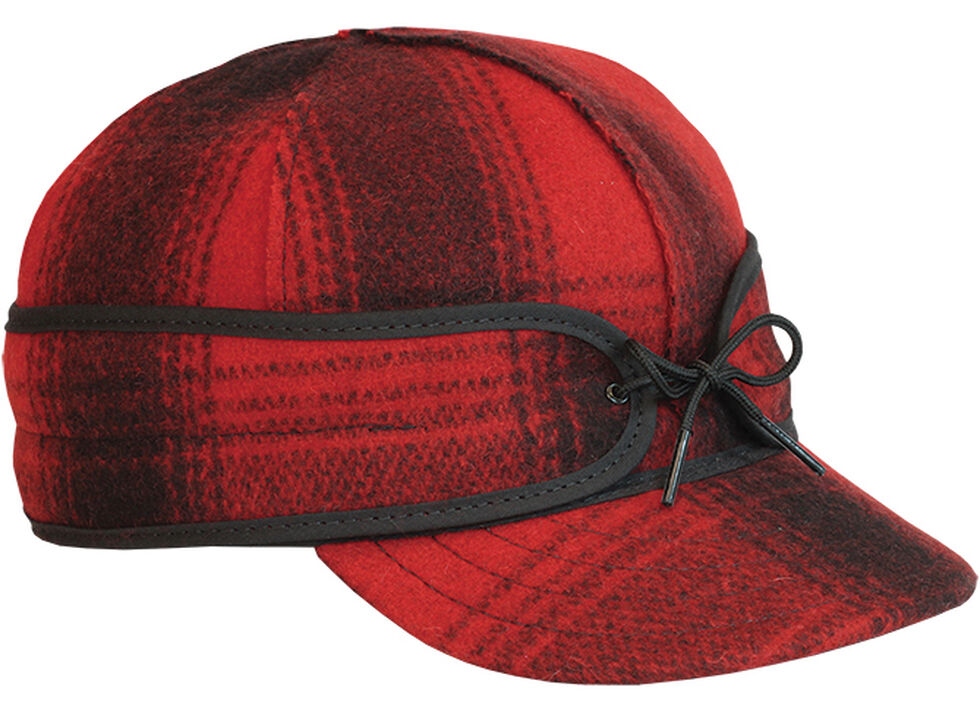 Stormy Kromer Men's Red & Black Plaid Original Cap, , hi-res