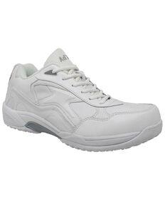 Ad Tec Men's Athletic White Uniform Work Shoes - Round Toe, White, hi-res