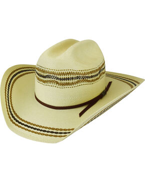 Bailey Men's Lubbock Bangora Straw Western Hat, Natural, hi-res