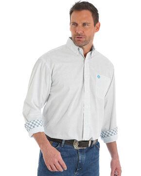 Wrangler George Strait Men's White Geo Dot Shirt - Tall, White, hi-res