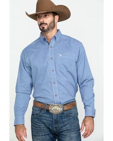 Ariat Men's Gonzales Stretch Check Plaid Long Sleeve Western Shirt , Blue, hi-res