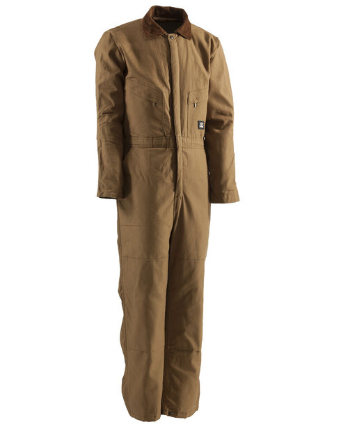 Berne Brown Duck Deluxe Insulated Coveralls - Tall 2XT, Brown, hi-res